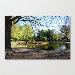 Muscogee (Creek) Nation - HonorHeights Park Azalea Festival, Duck Pond Canvas Print