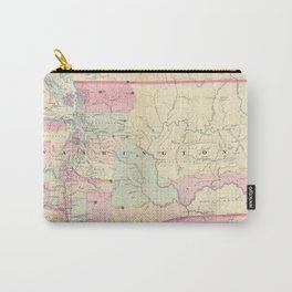 Vintage Map of Washington State (1874) Carry-All Pouch