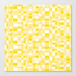 Mod Gingham - Yellow Canvas Print