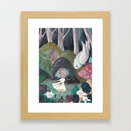Capucine in the Forest Framed Art Print