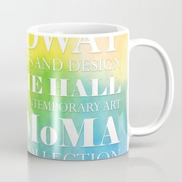New York Arts - white text on color Coffee Mug