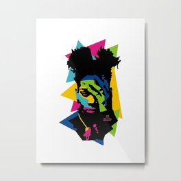 basquiat color jean michel Metal Print