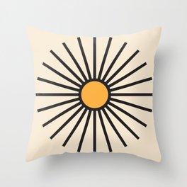 Sun Burst Lines Throw Pillow
