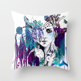 Tribal Girl - Colourway - Throw Pillow