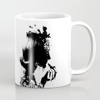 soldier Mugs featuring WOMAN SOLDIER by kravic