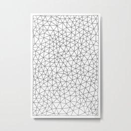 Connectivity - Grey Metal Print