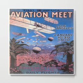 Vintage poster - Aviation Meet Metal Print