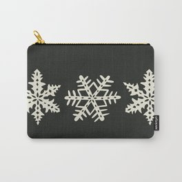 Black Snowflake Pyrex Carry-All Pouch