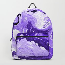 Purple and Black Marble Backpack