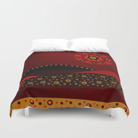Red spring Duvet Cover
