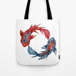 Yin Yang Koi Fish Tote Bag