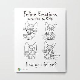 Feline Emotions Metal Print