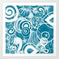 Blue Bliss Art Print