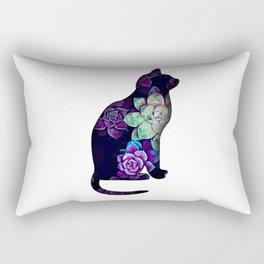 Cat in succulents 1 Rectangular Pillow