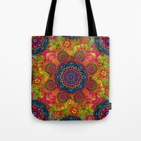 baroque Tote Bags featuring baroque mandalas by Norma Lindsay