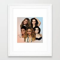 fifth harmony Framed Art Prints featuring Fifth Harmony by Aaron Jason