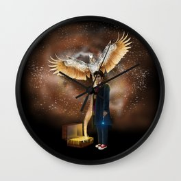 10th Doctor who with fantastic beast Wall Clock