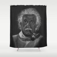 einstein Shower Curtains featuring Einstein by Paula Leão