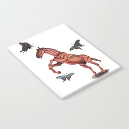 horse and butterfly Notebook