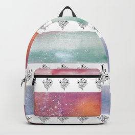 Floral and Watercolor Abstract Pattern Backpack