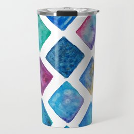Quadrilaterals in blue Travel Mug