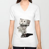 poetry V-neck T-shirts featuring Danbo poetry by evanski