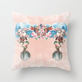 Queen of flowers Throw Pillow