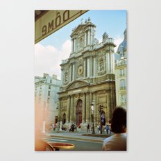 Paris in 35mm Film: Eglise Saint-Paul-Saint-Louis in Le Marais Canvas Print