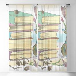 Books Sheer Curtain