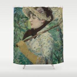 Edouard Manet - Spring Shower Curtain