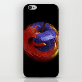 Mozilla Fire Apple iPhone Skin