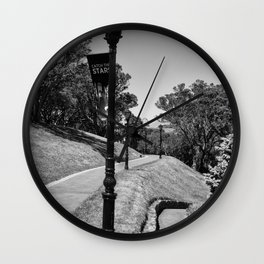 Garden Path Lighting Wall Clock