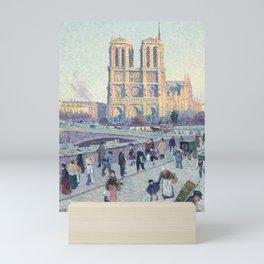 Maximilien Luce,  The Quai Saint-Michel and Notre-Dame Mini Art Print
