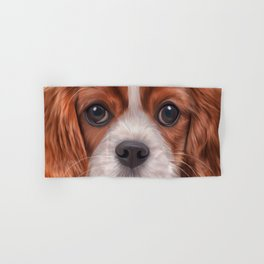 Drawing Cavalier King Charles Spaniel Hand & Bath Towel