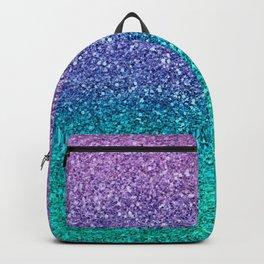 Lavender Purple & Teal Glitter Backpack