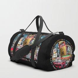 Times Square II (widescreen on black) Duffle Bag