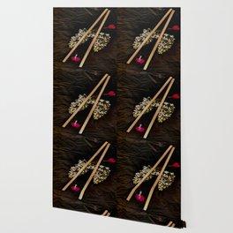 Chop Sticks Pattern Wallpaper