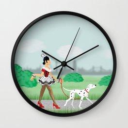 Walkin' the Dog Wall Clock