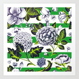Modern Vintage Florals Art Print