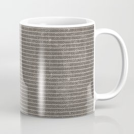 Vintage pastel brown abstract geometrical stripes Coffee Mug