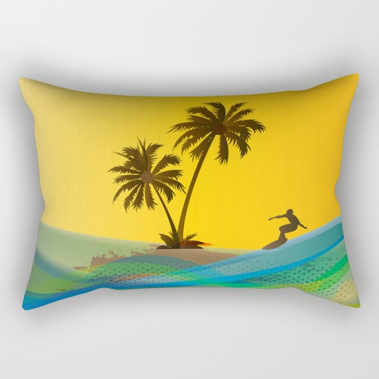 Surfer Rectangular Pillow