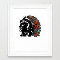 navajo Framed Art Prints featuring Navajo by Skye