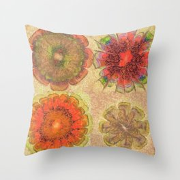 Nonpacificatory Structure Flowers  ID:16165-075207-87310 Throw Pillow