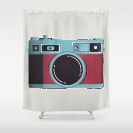Little Yashica Camera Shower Curtain