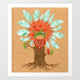 Ginger Birdfriend.  Art Print