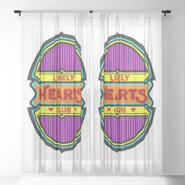 Lonely Hearts Club Sheer Curtain