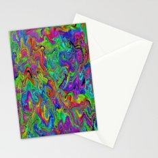 Atomic rainbow splash Stationery Cards