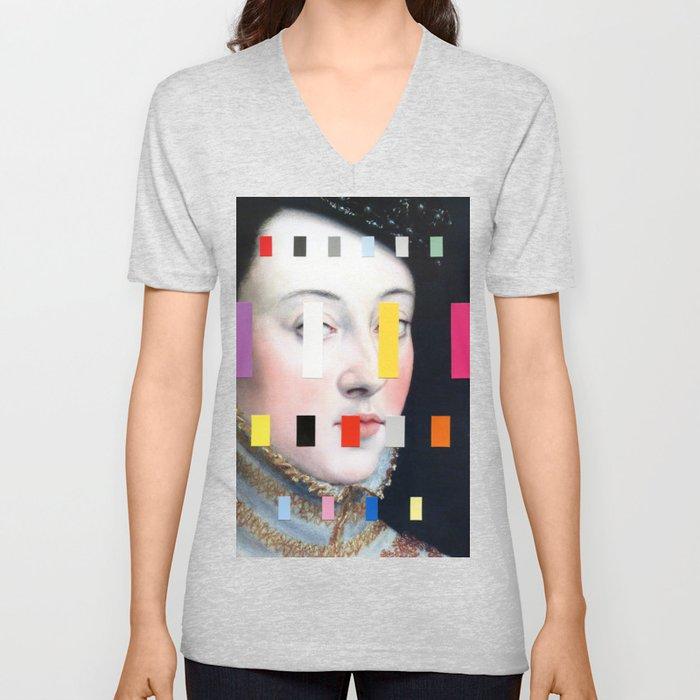 Portrait With A Spectrum 4 Unisex V-Neck