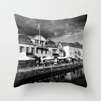 sweden Throw Pillows featuring Sweden by alexaxm
