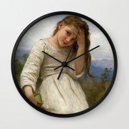 "William-Adolphe Bouguereau ""La Petite Maraudeuse (The Little Thief)"" Wall Clock"